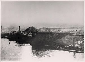 Felling, Tyne and Wear - The coal staithes at Felling Shore.