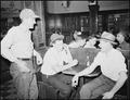 Coal miners in soda fountain. Inland Steel Company, Wheelwright ^1 & 2 Mines, Wheelwright, Floyd County, Kentucky. - NARA - 541456.tif