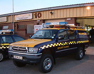Her Majesty's Coastguard - Typical Coastguard vehicles and livery at Tenby