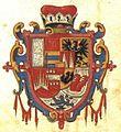 Coat of Arms of Prince Karel of Liechtenstein with z Usovský 1614.jpg