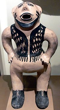 Cochiti Pueblo Caricature sculpture of a white man EthnM.jpg