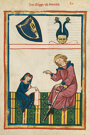 Bligger von Steinach - Bligger von Steinach depicted in the Codex Manesse (circa 1300)
