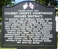 Colbert County Courthouse Square District Marker.JPG