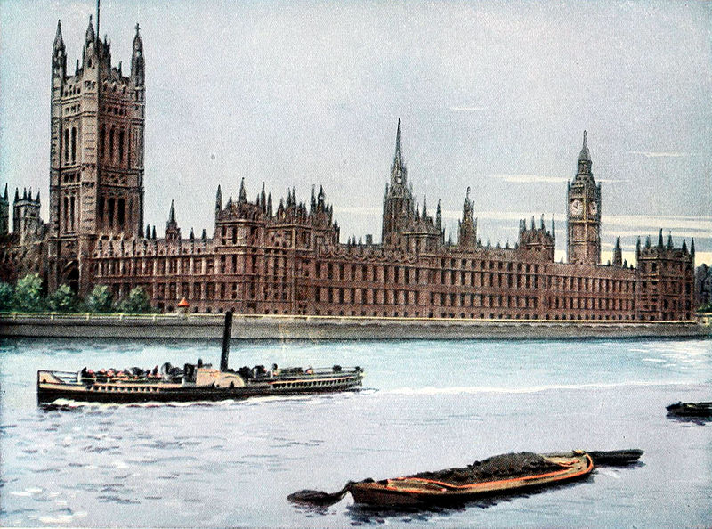 Collier's 1921 Vol 7 Frontispiece -- Parliament Buildings, London.jpg