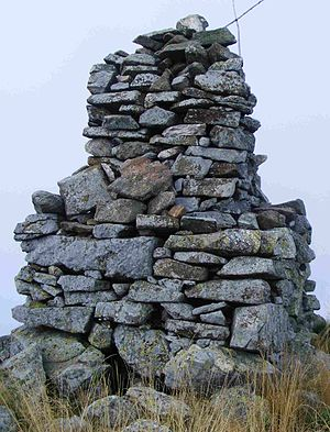 Monte Colombano - The summit's cairn