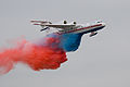 Colored water release from Be-200 at MAKS-2009 aeroshow.jpg