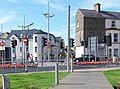 Colourful traffic islands and the Bryansford Road-Central Promenade road junction - geograph.org.uk - 1474521.jpg