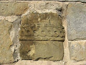 Ellerburn - Image: Column fragment with ropework decoration