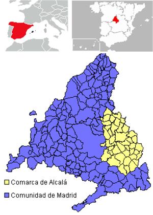 Comarca de Alcalá - Image: Comarca de Alcala mapa