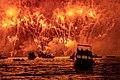"""Combate Naval Mazatlan, Sin. Mex. """"carnaval de Mazatlan"""" Fuego, desde mar adentro.jpg"""