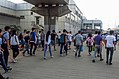 Commuters passing Old Xi'erqi Station (20170904084123).jpg
