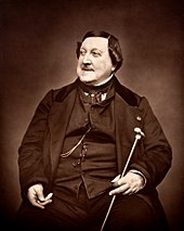 Rossini in 1865 (Source: Wikimedia)