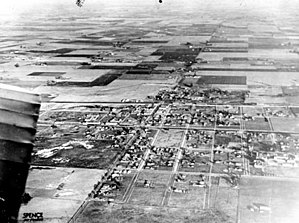 Compton, California - Aerial view of Compton, 1920