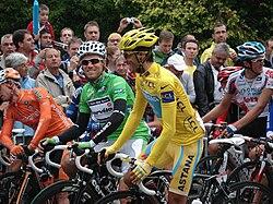 Contador en la salida de Pau