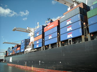 American President Lines - APL container ship
