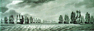 Cornwallis's Retreat - Last phase: the French squadron withdrawing