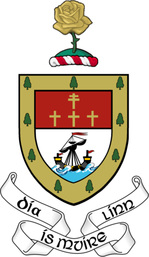Mac William Íochtar - Image: County Mayo coat of arms
