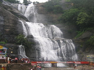 Courtallam Town in Tamil Nadu, India