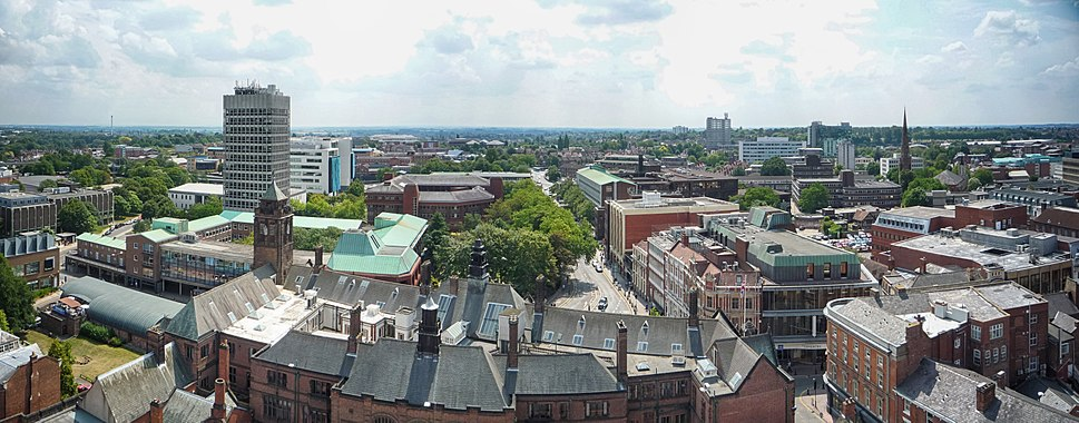 Coventry Cathedral Tower South Panorama