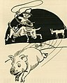 Cowboy with lasso and pig art, from- El Rodeo (1917) (43128) (cropped).jpg