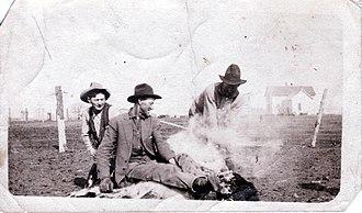 Anchor D Ranch - Cowboys At Anchor D Ranch, 1917