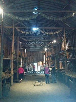 Crawford Lake Conservation Area - Image: Crawford lake longhouse interior