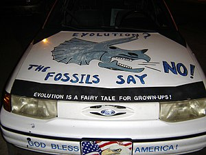 Anti-evolution car in Athens, Georgia