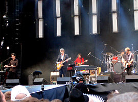 Actuació de Crowded House a Hyde Park l'any 2007.