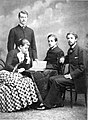 Crown princess Victoria with her brothers and Gustav in 1882.jpg