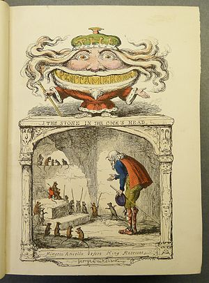 Pentamerone - Illustration by George Cruikshank (1847) to The Stone in the Cock's Head
