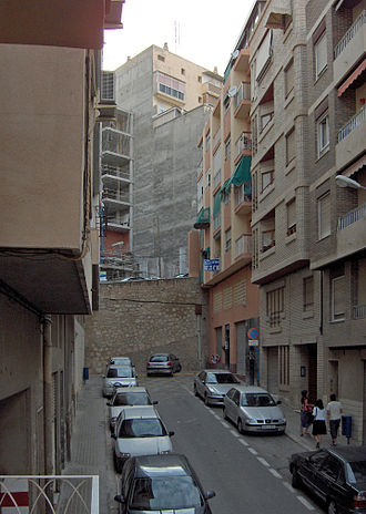 Dead end (street) - A dead end in Alicante, Valencian Community, Spain