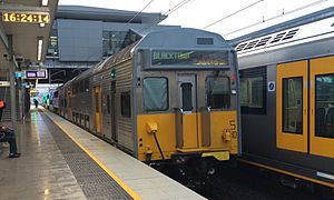 Cumberland Line Train Departs Glenfield For Blacktown.jpg
