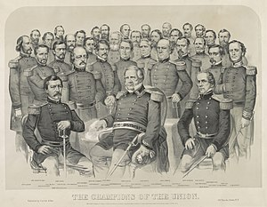 John E. Wool - Image: Currier & Ives The champions of the Union 1861