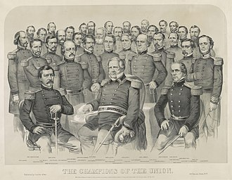 Frederick W. Lander - Image: Currier & Ives The champions of the Union 1861