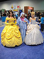 D23 Expo 2011 - Belle, Fairy Godmother, and Cinderella (6075809710).jpg