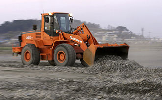 Daewoo - A wheel-loader produced by Daewoo Heavy Industries