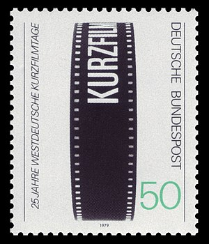 International Short Film Festival Oberhausen - German stamp commemorating the festival's 25th anniversary (1979)