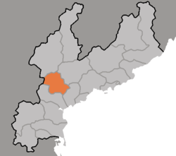 Location of Yŏnggwang County