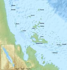 Eritrea-Location and habitat-Dahlak reliefmap