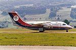 Dan-Air London British Aerospace BAe-146-100 G-BKMN (27304688451).jpg