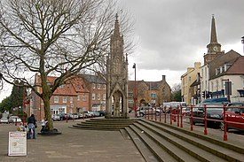 Daventry, High Street and Market Square and market cross (resize)- geograph.org.uk - 1729537.jpg