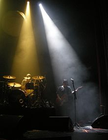 Spotlights In Use At A Music Performance