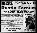 David Garrick - 1916 - newspaperad.jpg