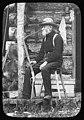David T Denny at Lake Keechelus cabin, 1899 (MOHAI 2454).jpg