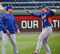 David Wright stretches on -WSMediaDay (22712480140).jpg