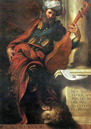 Camillo Boccaccino - Camillo Boccaccino, David, 1530, Piacenza, Palazzo Farnese