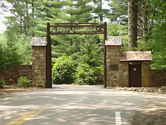 Yawgoog Scout Reservation - The main entrance to Camp Yawgoog