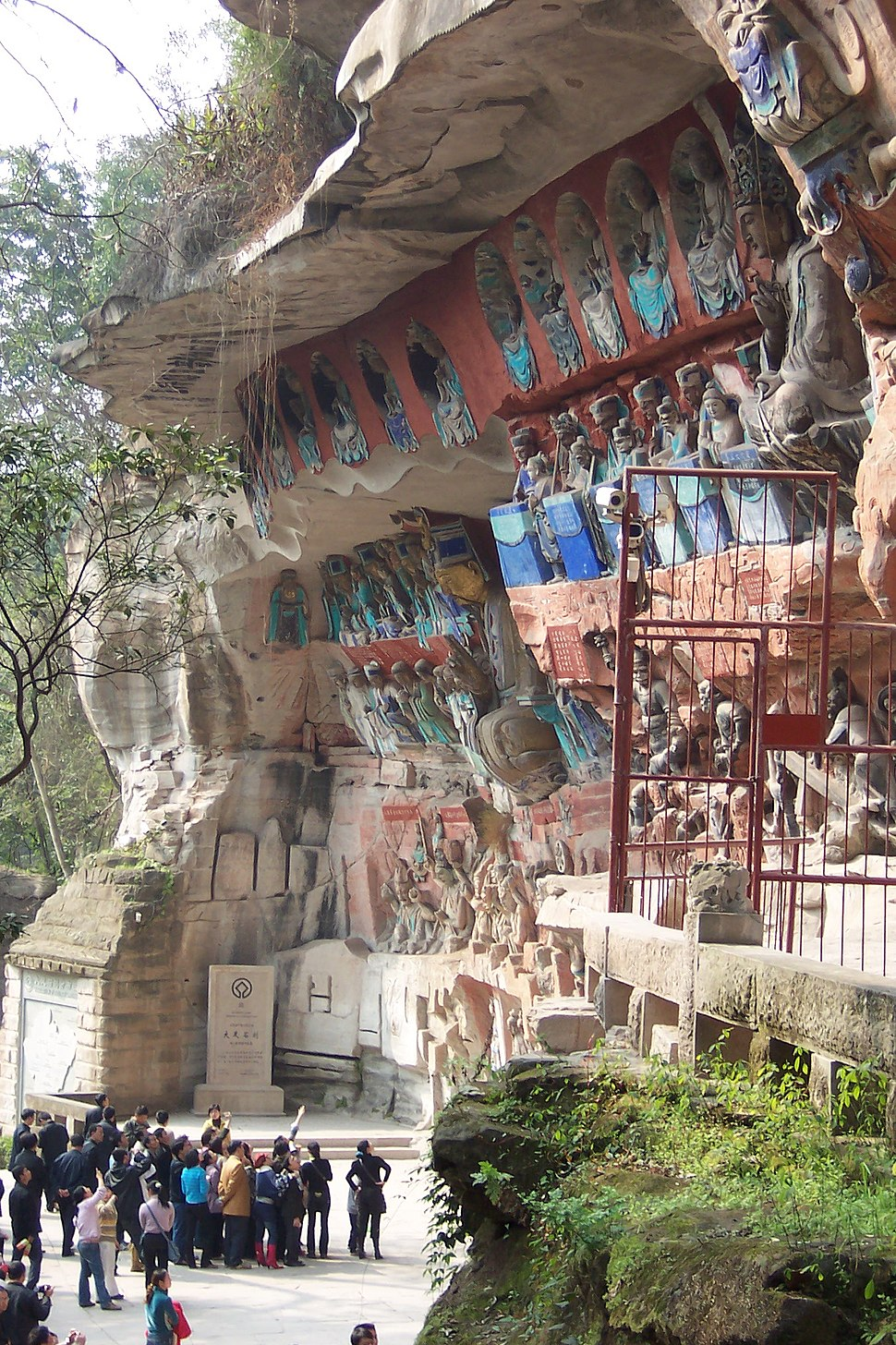 Dazu rock carvings baoding 18 layers of hell