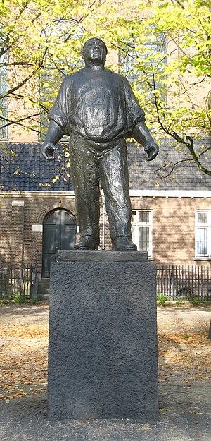 February strike - De Dokwerker on the Jonas Daniël Meijerplein in Amsterdam