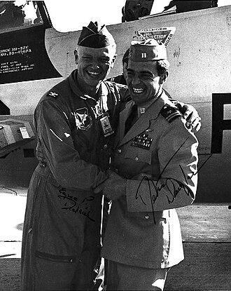 Dieter Dengler - Eugene Deatrick and Dieter Dengler, NAS Miramar, 1968. (USN Photo)